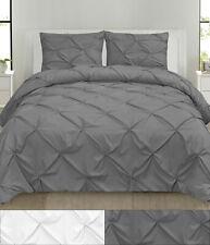 Comforter & Pillow Sham Set - Hudson 3 PC Pinch Pleat Pintuck Solid Polyester