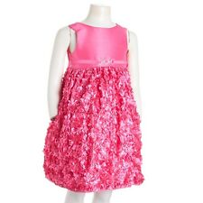 American Princess Girl's 4 Petal Easter Holiday Sequin Hot Pink Dress NEW