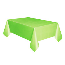 Amscan Plastic Oblong Tablecovers Table Cloth Cover Catering Events 19 Colours Kiwi Green