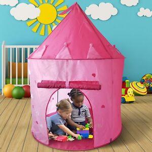 Children Kids Girls Pink Pop Up Castle Party Play Tent Indoor/Outdoor Garden Toy