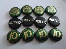 12 MIXER CROWN BOTTLE TOPS, 4 EACH J2O, BRITVIC BLACK , CANADA DRY