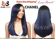 """MLF143 CHANEL - Synthetic Lace Front Wig -  20"""" Long Straight Style - Bobbi Boss"""