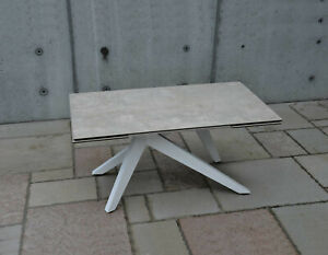 Table With Plan Glass Finished Ceramics, 2 Extending From 40CM, Article 01