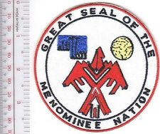 American Indian Tribe Seal Wisconsin Menominee Nation Tribe Menomimee River, WI