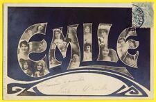 cpa de 1905 Fantaisie ART NOUVEAU Fête des Prénoms Saint ÉMILE Femmes NEW ART