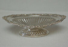 Vintage BIRKS RIDEAU Silver Plate FOOTED CANDY NUT BON BON DISH Rope Shell Motif