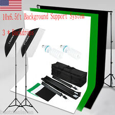 1250W Photo Studio Video Softbox Continuous Lighting Stand Kit Photography US