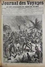 JOURNAL DES VOYAGES N° 633 de 1889 PAYS DES GALLAS  TORTURES VOYAGE BORELLI