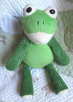 Scentsy Buddy Frog Ribbert Green Plush Stuffed Toy w Perfectly Pomegranate EUC