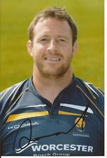 WORCESTER WARRIORS RUGBY UNION * DEAN SCHOFIELD SIGNED 6x4 PORTRAIT PHOTO+COA