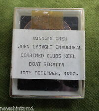 #D275. 1982  INAUGURAL COMBINED CLUBS KEELBOAT REGATTA MEDAL