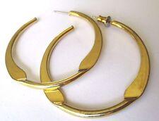 boucles d'oreilles grands anneaux pour oreilles percés créoles couleur or   *194