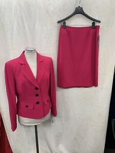 LESUIT SKIRT SUIT/NEW WITH TAG/SIZE 18W/RETAIL$240/FUCHSIA/LINED/SKIRT LENGTH 25