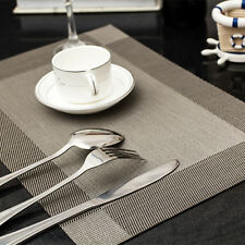Non-slip 4X PVC Placemats Tableware Pad Mat Heat Insulation Bowl Mat AuSeller Fa