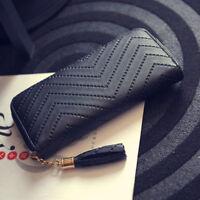 Women Long Leather Clutch Wallet PU Card Holder Lady Purse Handbag Envelope Bag