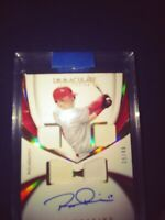RHYS HOSKINS 2018 Immaculate QUAD PATCH ROOKIE AUTO Phillies RC #39/49