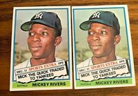 1976 Topps Traded #85& Mickey Rivers - Yankees