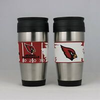 Arizona Cardinals NFL Officially Licensed 15oz Stainless Steel Tumbler w/ PVC Wr