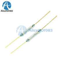 10PCS MKA-14103 Gold Tone Leads Glass N/O SPST Reed Switches 10-15AT 2 x 14mm