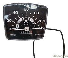 ukscooters VESPA SPEEDOMETER SQUARE SMALL FRAME V50 SPECIAL 0-120KM BLACK KM
