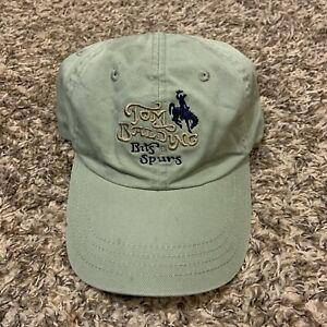 Vintage Tom Balding Bits & Spurs Cowboy Green Adjustable Stapbaack Hat