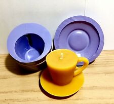 Silicone cup saucer mold candle soap Mould easy release wedding party Homemade