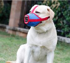 S-XL Dog Muzzle Anti Bite Stop Barking Chewing Mesh Mask Training Small Large