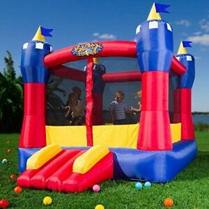 Inflatable Bouncer  Bouncy Castle Inflatable Playground Backyard Tunnel Hut Toy