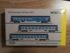 minitrix n scale express passenger car set 15935 Czech Railways