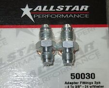 "AllStar 3/8""-24 to -4 AN Brake Caliper Adapter Fitting w/ Washer 2pk ALL50030"