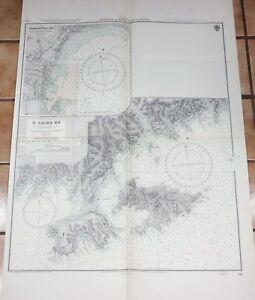 Very Large Japanese Marine Chart - O SHIMA KO / YOKKAICHI KO - 1959