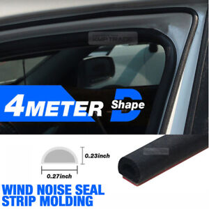 Car Door Wind Noise Seal D Shape Rubber Strip Molding 13Ft 1EA for JEEP Car
