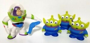 Lot (4) Disney Pixar Toy Story Buddy Pack Figure Buzz Lightyear Little Green Men