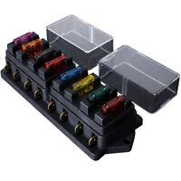 12V 24V 8 Emplacements ATO ATC Boîte Porte à Fusible Enfichable Bateau Camion