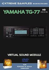 XTREME samples YAMAHA tg-77 HD VIRTUAL SOUND MODULE Logic exs24 | Ni contatto