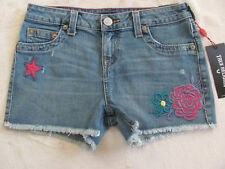True Religion Bobby Cut Off Shorts- Patched- Sail Away- Size 14- NWT $69