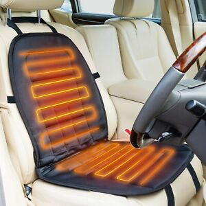 AA Heated Car Seat Cover 12V Black Universal Pad Thermal Warmer