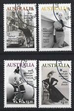 AUSTRALIA 2020 MID-CENTURY FASHION FOCUS SET OF 4 FINE USED