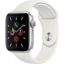 Apple Watch Series 5 (44mm) 32GB GPS (MWVD2LL/A) Sportarmband silber/weiß