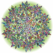Round Bgraamiens Puzzle-Magic Tree of Life -1000 Pieces Colorful Leaves Mandala