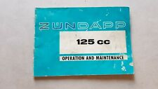 Zundapp GS 125 KS 125 MC 1972 manuale uso originale INGLESE moto owner's manual
