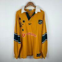 Vintage Wallabies Rugby Jersey 1999 Australia Reebok Long Sleeve 100 Years Rare