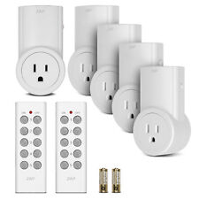 Etekcity Wireless Remote Control Light Outlet Switch (Learning Code, 5Rx-2Tx)