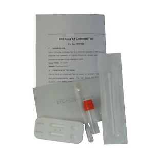 Dog Canine Double Test CPV + CCV Home Vet Faeces & Vomit Swab Kit