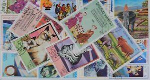 Laos 100 Stamps (L211)