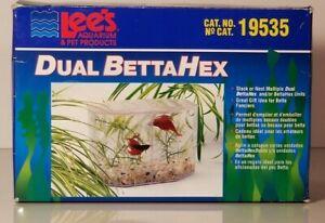 LEES BETTA HEX DUAL BETTA TANK LID REMOVEABLE DIVIDER # 19535