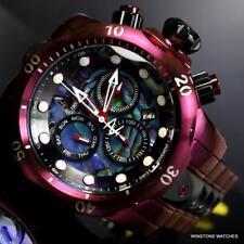 Invicta Reserve Venom Abalone Burgandy Black Chronograph 52mm Swiss Mv Watch New