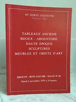 Catalogue Di Vendita Antico Gioielli Argento N° 20 6 Novembre 1979
