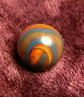 """SPIDERMAN Flame SWIRL Blue Blood AKRO CAC Vintage Marbles Old Toys .62"""" RARE"""