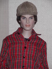 Tonner Male Doll Micro Knitted Beige Beanie Hat Matt/ Sean/ Damon/Jeremy
